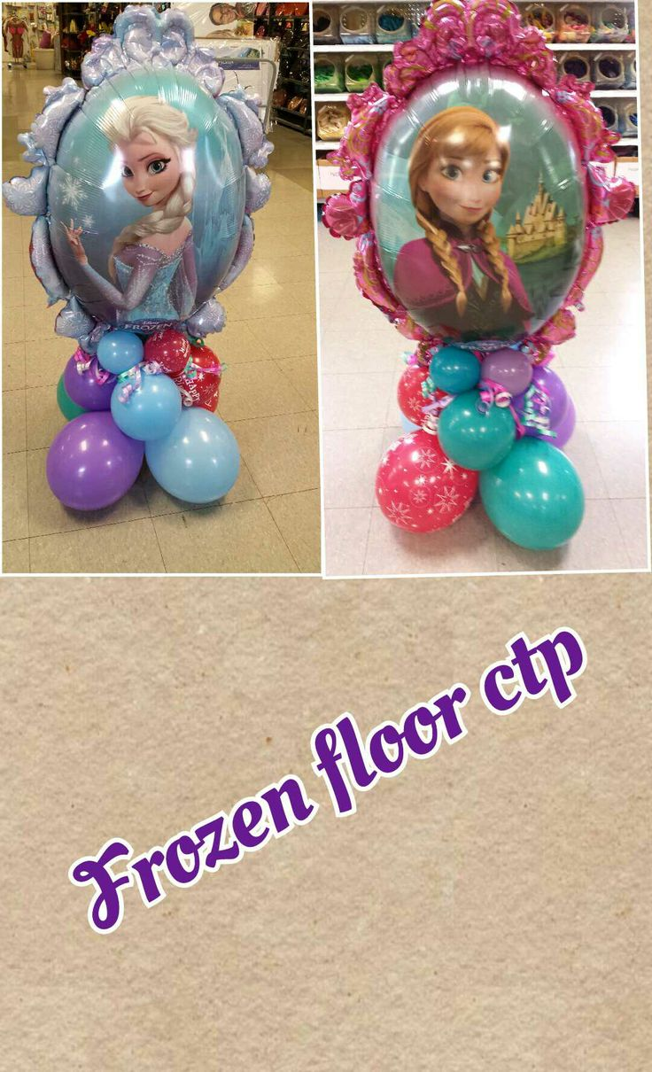 Disney frozen balloon decor pinterest for Frozen balloon ideas