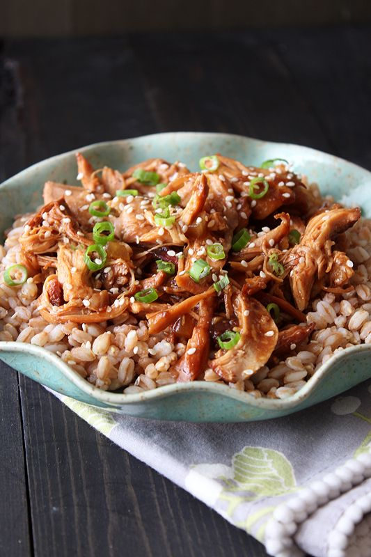 """Slow Cooker Honey Sesame Chicken from Tessa of Handle the Heat.  This is getting bumped to the top of my """"to try"""" list!"""