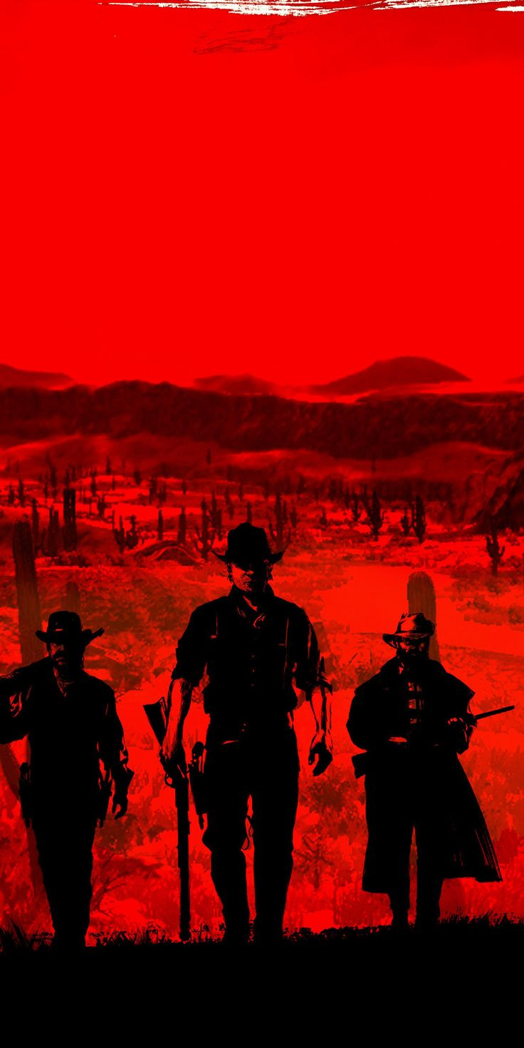 Red Dead Redemption 2, poster, red, 1080x2160 wallpaper