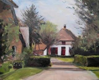 """""""Boerderij met de rode luiken."""" Angerlo (gemeente Zevenaar), Holland. René PleinAir"""