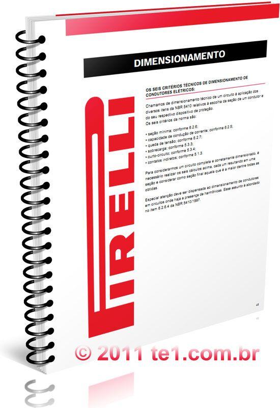 Download apostila tabelas de dimensionamento de condutores elétricos Pirelli