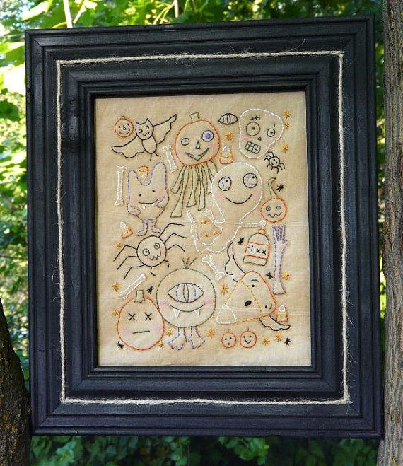 Halloween Hob Goblin embroidery PDF Pattern  by Hudsonsholidays, $7.99