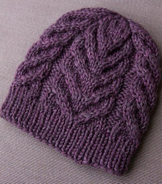 Şapka Modelleri Mor Kalay Örgüsü