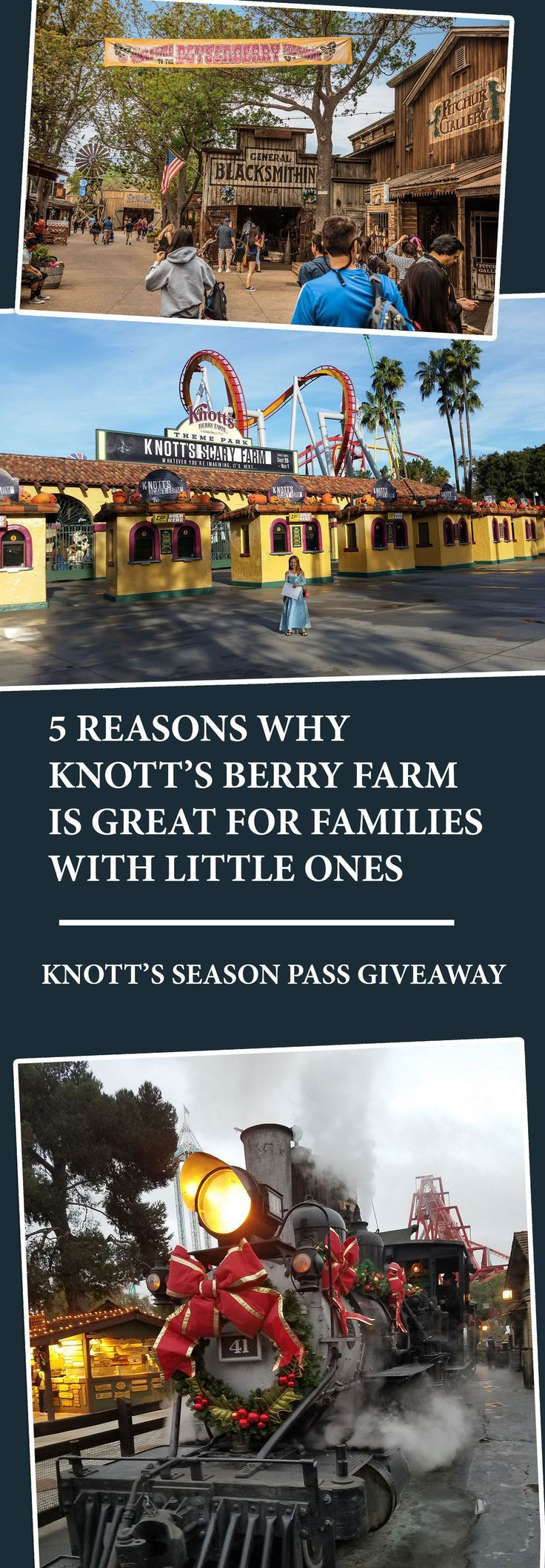 5 reasons why Knott's Berry Farm is great for Families with little ones!  A Knott's 2017 season pass giveaway!
