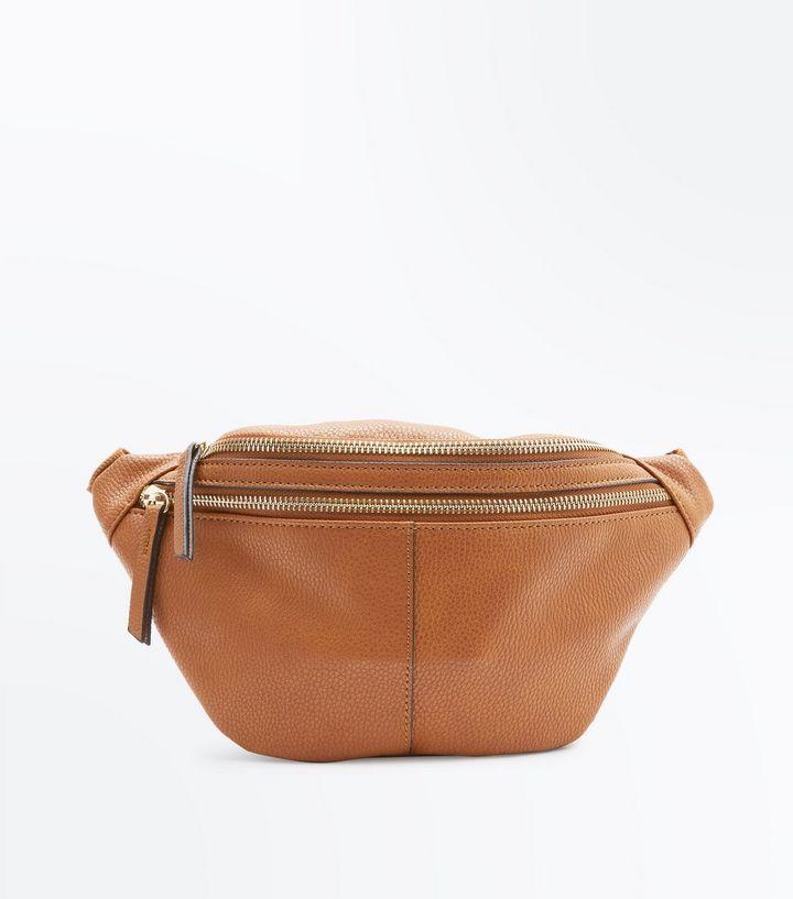 Tan Double Pocket Bum Bag | New Look