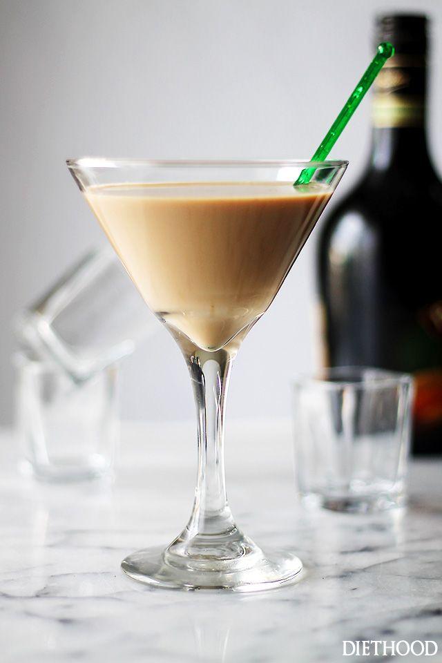 A splash of vodka, some strong espresso and a good dose of Irish Cream create this rich and so delicious Irish Martini. CHEERS!