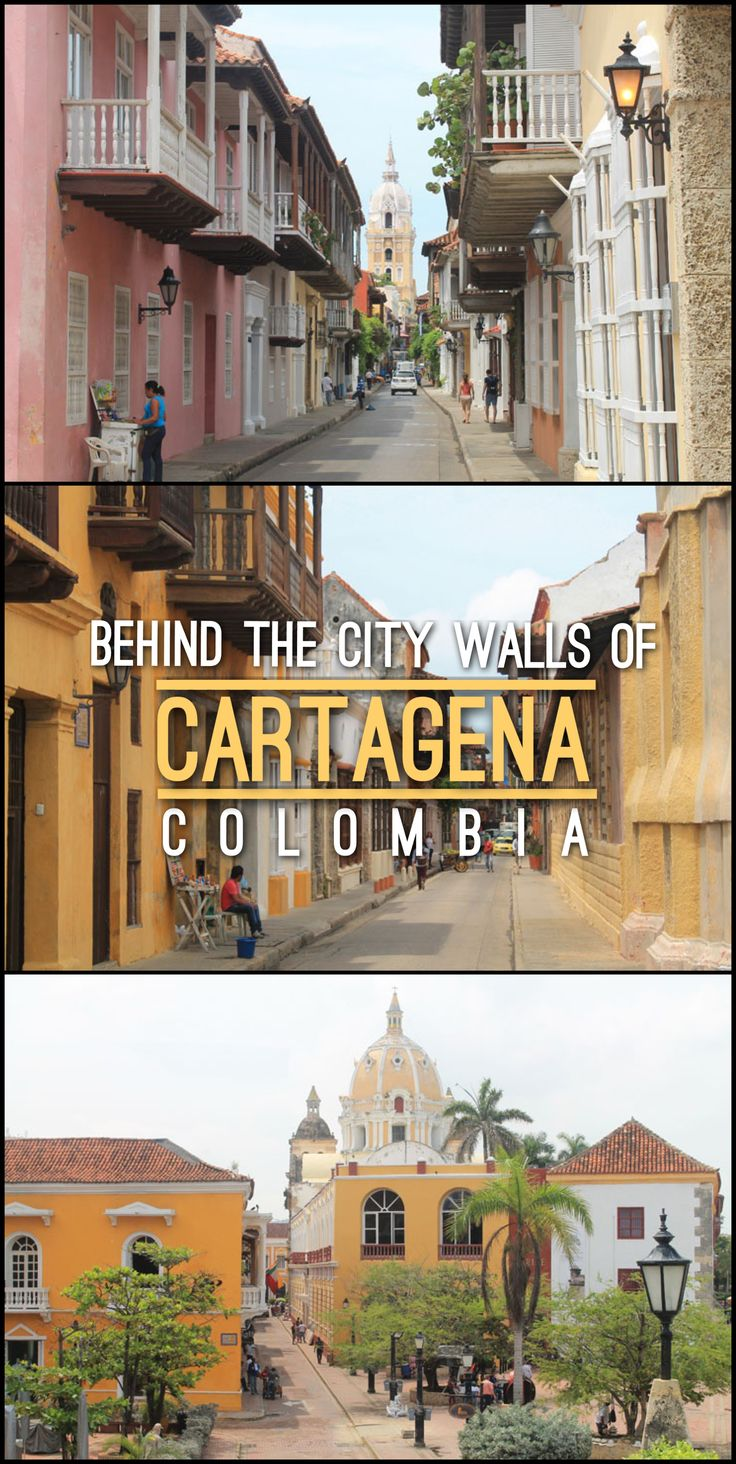 Behind the city walls of Cartagena, Colombia. This Spanish colonial town is one of the most beautiful in Latin America!