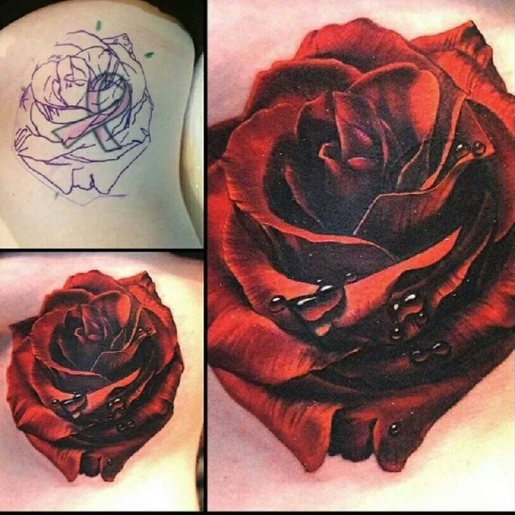 10 Best Ideas About Black Flower Tattoos On Pinterest: Like It For Possible Cover Up