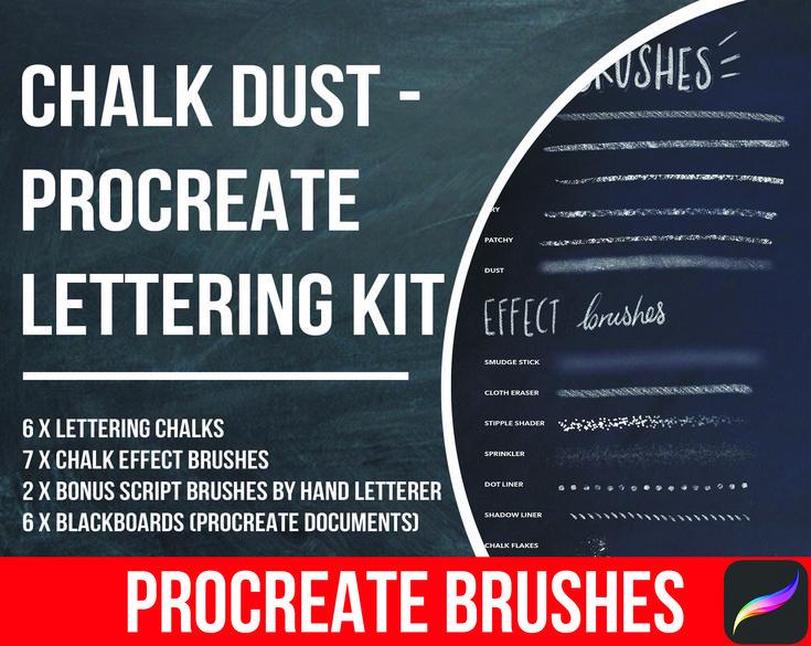 Procreate Brushes, Procreate Brush, Procreate Lettering