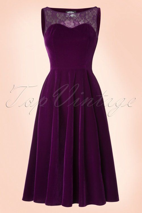 Hearts and Roses Purple Velvet Lace Dress 102 60 19999 1W