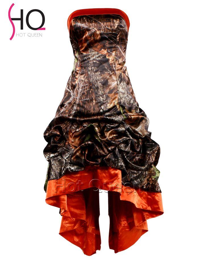 Hot Sale Plus Size Short Camo Wedding Dresses 2016 Cheap Camouflage Bridal Dress Gowns Vestidos De Novia Robe De Mariage