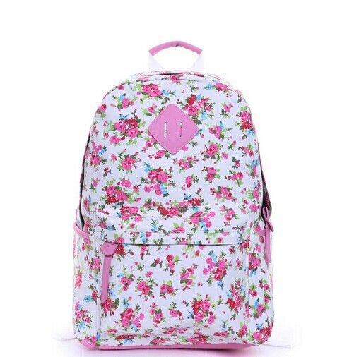 Sweet Floral Print Backpack, Backpack For Girls