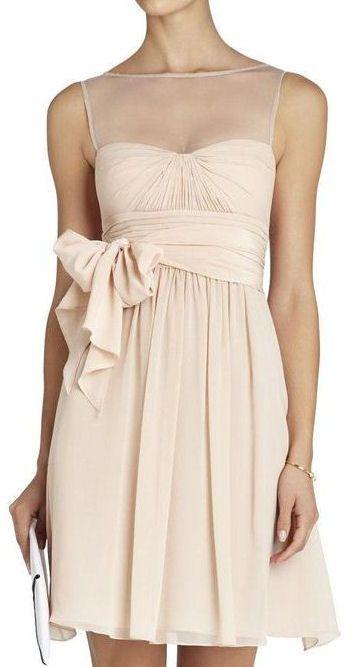 Blush Strapless Dress <3