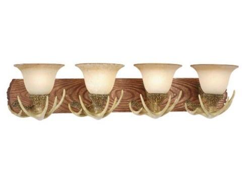 Large Antler Lodge Bathroom Vanity Natural Rustic Light VL33024NS Vaxcel Cabin | eBay