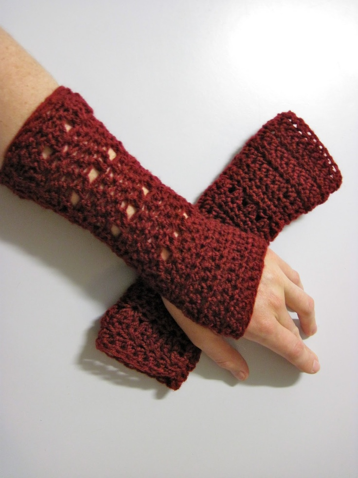 Crochet Gloves With Finger Holes >> 1000+ ideas about Fingerless Gloves Crochet Pattern on Pinterest | Fingerless Mittens, Crochet ...