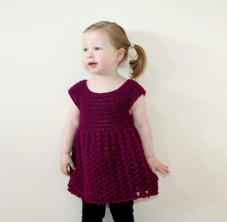 Toddler Shell Dress   AllFreeCrochet.com