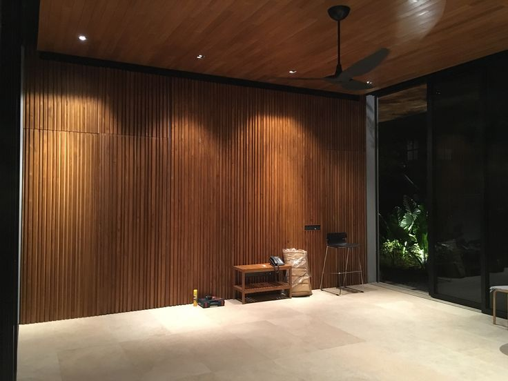 Wall Panel in solid teak wood by Gappetto.id