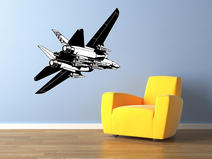F16 Fighter Jet Airplane Wall Decal Vinyl Aviation Sticker