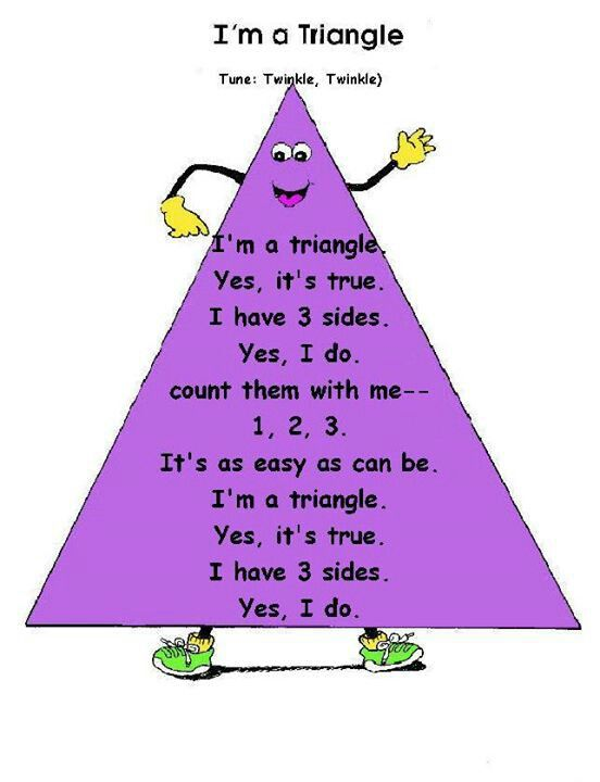Triangle poem : Pre-K Math (Shapes/Geometry) : Pinterest ...