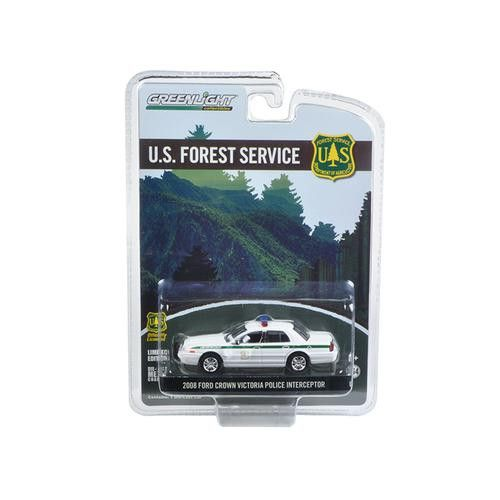 2008 Ford Crown Victoria Police Interceptor Forest Service (USFS) Hobby Exclusive 1/64 Diecast Model Car by Greenlight
