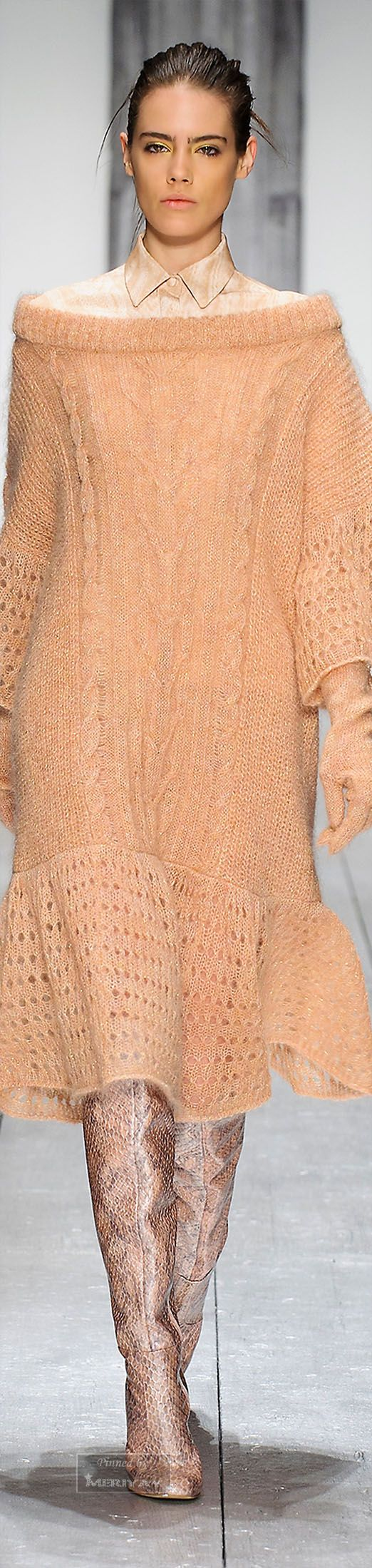 Laura Biagiotti.15 knit dress women fashion outfit clothing style apparel @roressclothes closet ideas