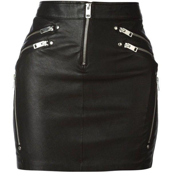 Diesel Yusra Leather Zips Mini Skirt ($361) ❤ liked on Polyvore featuring skirts, mini skirts, bottoms, saias, black, leather zip skirt, real leather skirt, leather miniskirt, short mini skirts and zipper mini skirt