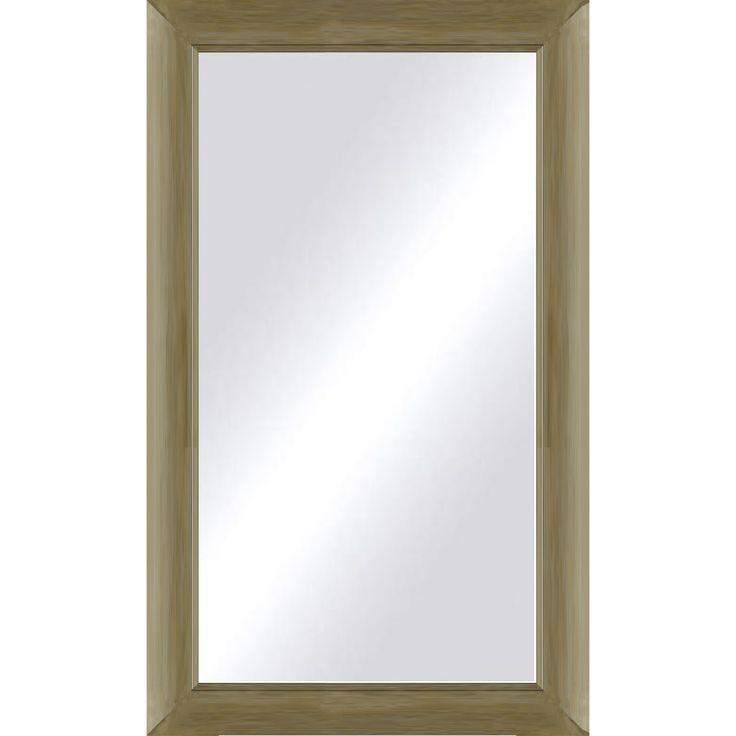 Oversized Champagne (Beige) Framed Mirror (42 x 60)