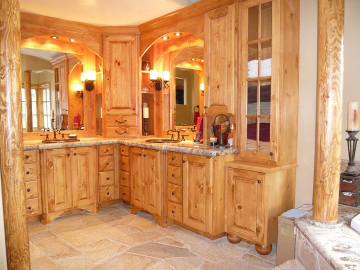 Best 25  Pine kitchen cabinets ideas on Pinterest Beautiful knotted pine cabinetry in a bathroom  Very warm  very  comfortable  Knotty Pine CabinetsPine Kitchen  . Knotty Pine Kitchen Cabinets. Home Design Ideas