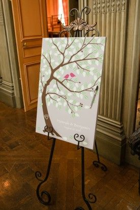 wedding guest book, wedding tree, bird theme wedding from Meridian House DC wedding by Birds of a feather photography