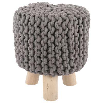 Krukje Manchi Ø30 x 40 cm grijs #Casabella #Wonen #Furniture #Kruk