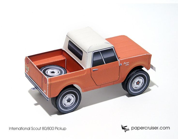 International Scout 80/800 Pickup paper model | http://papercruiser.com/?wpsc-product=ih-scout-80800-pickup: Scout 80 800, Harvester Scouts, International Scout, Scout Restoration, American 4X4S, Motors Scouts, Paper Models