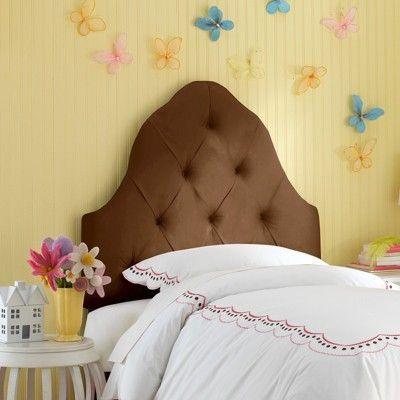 Skyline Carly Tufted Headboard - Skyline Furniture, Brown