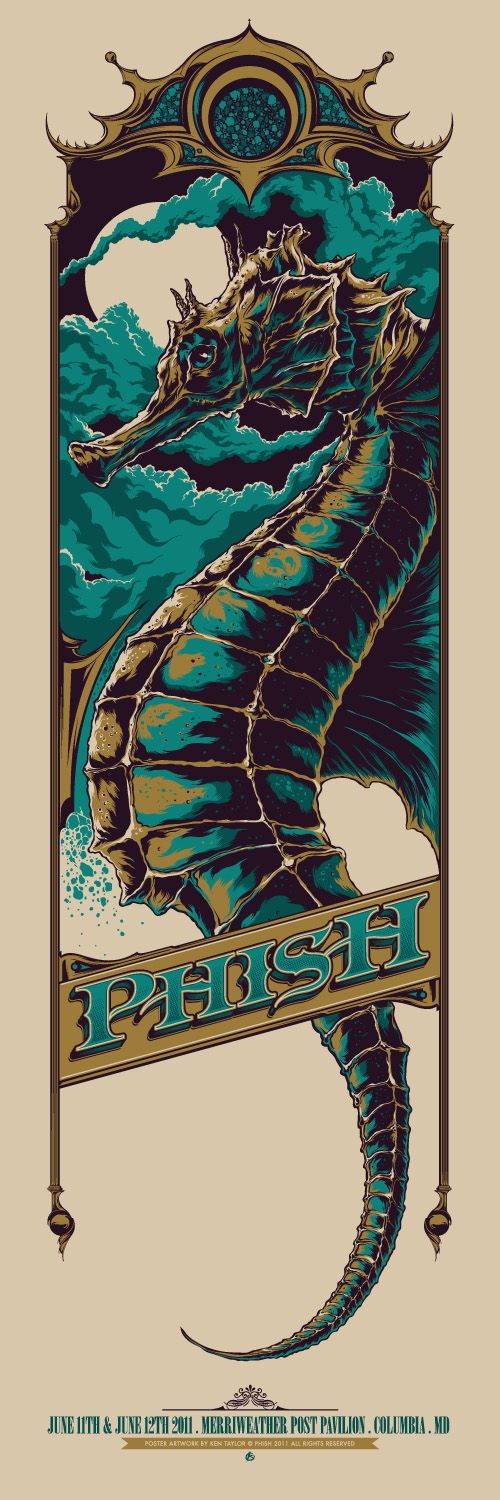 Phish concert poster by Ken Taylor