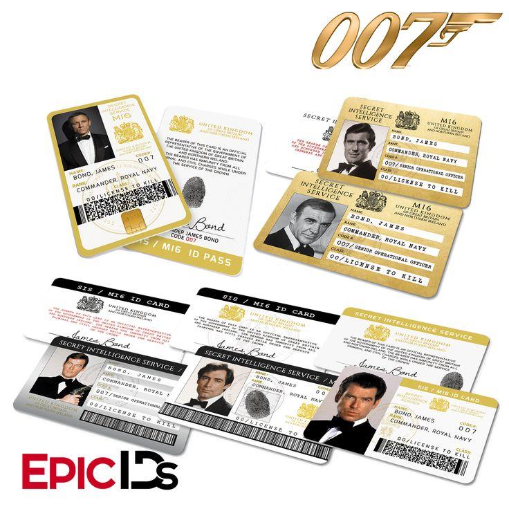 James Bond Inspired Secret Intelligence Service ID (Complete Collection)