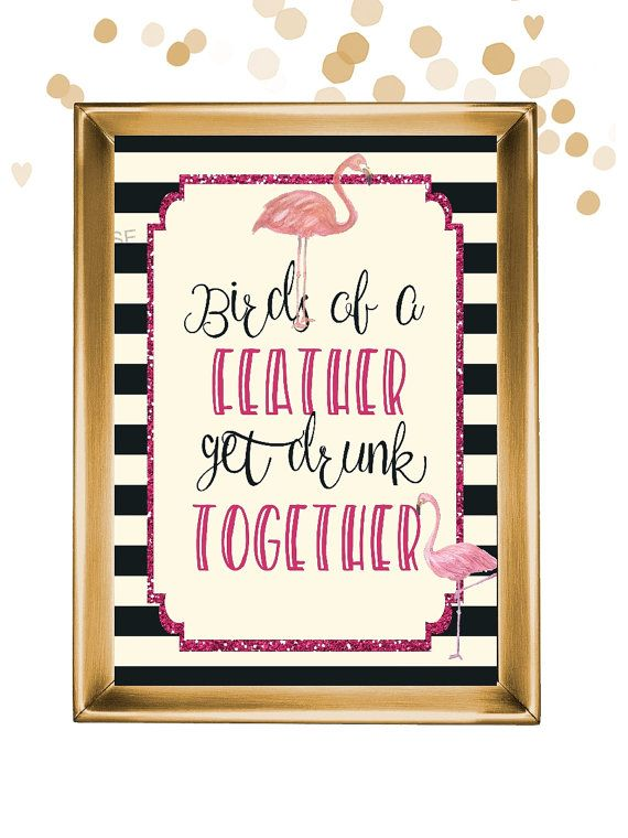 Flamingo bachelorette party sign!
