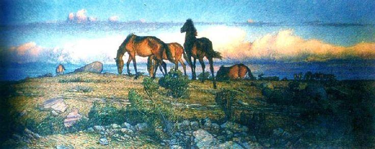 Nils Kreuger (1858–1930): Hastar Pa Alvaret