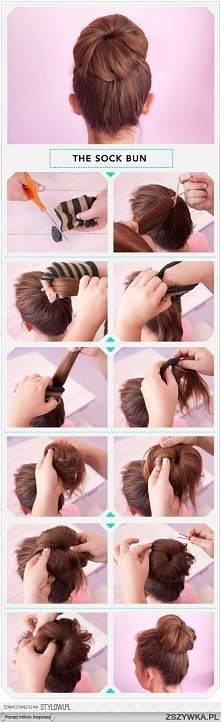 WYPEŁNIACZ DO KOKA: Hairstyles, Sockbun, Makeup, Socks Buns Tutorials, Hair Style, Nails, Hair Buns, Perfect Buns, Sock Buns