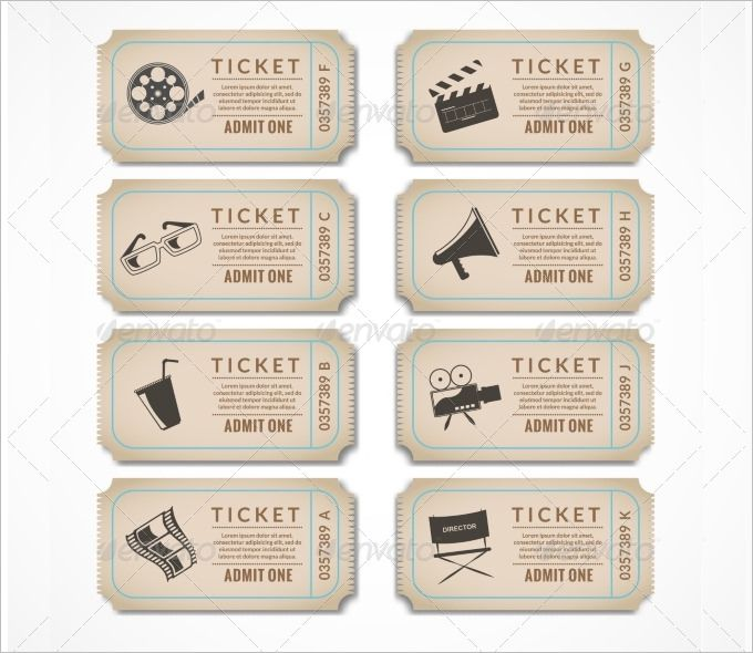 8+ Movie Ticket Templates - Free Word, EPS, PSD Formats Download! | Free & Premium Templates