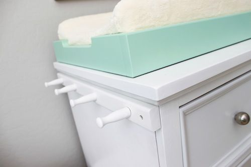 So smart! Attach a peg rail to the side of your changing table/dresser for added storage. #nursery #organizationNurseries Storage, Organic Ideas, Nurseries Organic, Dressers Storage, Command Hooks, Projects Nurseries, Organization Ideas, Nursery Storage, Hanging Storage