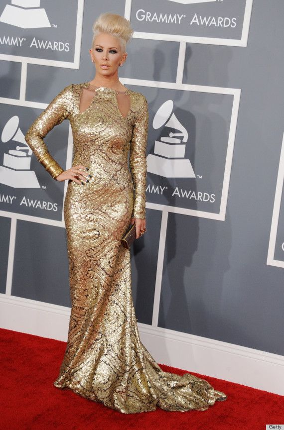 Jenna Jameson in her Grammys gown... Love every single thing about this!