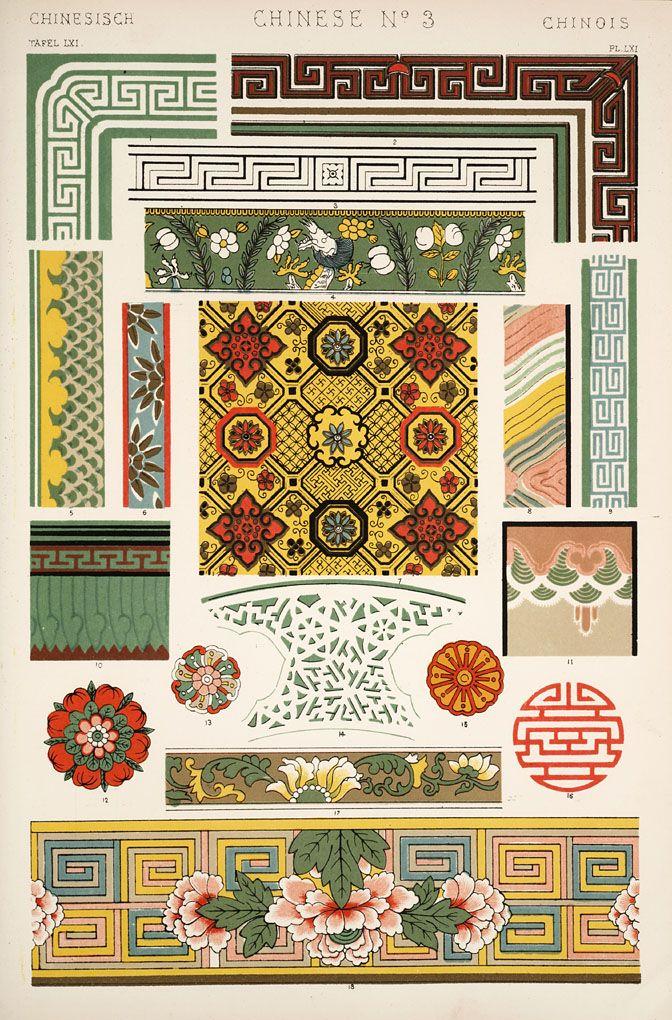 Jones, Owen, 1809-1874. / The grammar of ornament (1910)  [Chinese ornament