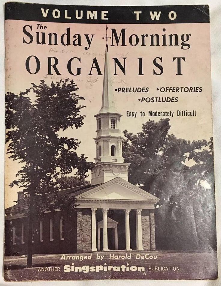 Sunday Morning Organist Volume Two Singspiration 1964 Vintage  | eBay