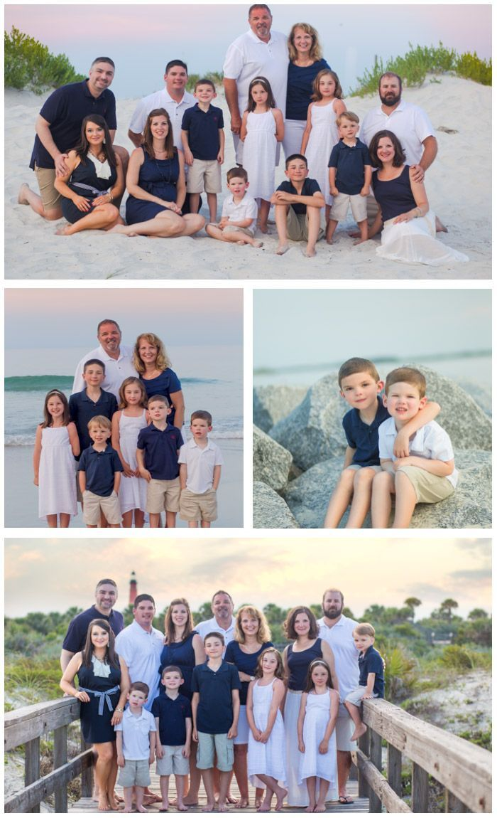Family Beach Photos at Lighthouse Point Park | Ponce Inlet Photographer. Navy Bl… – Kim Rogers