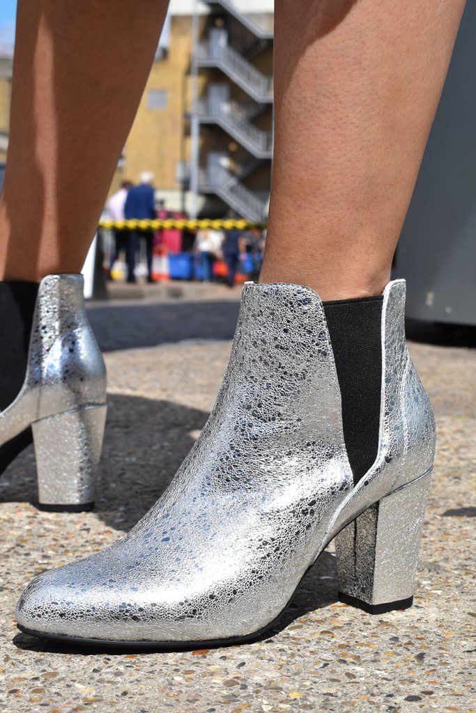 3d74b342f82 Shoe The Bear Hannah Silver Boots | SHOES - Womens | Shoes, Silver ...