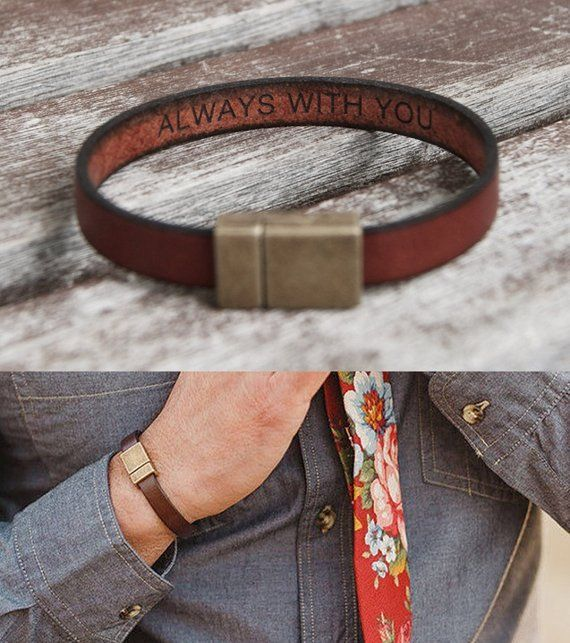 Boyfriend Gift Birthday Gift Personalized For Mens Gift Personalized Hidden Secret Message Bracelet Engraved Leather Bracelet Custom Dad