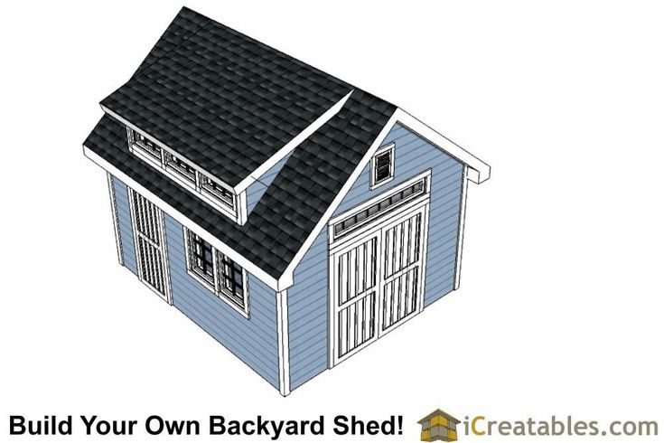 10 14 Shed Plans With Dormer 10 14 Dormer Gardensheddiyplans Plans Shed In 2020 10x14 Shed Small Shed Plans Shed Plans