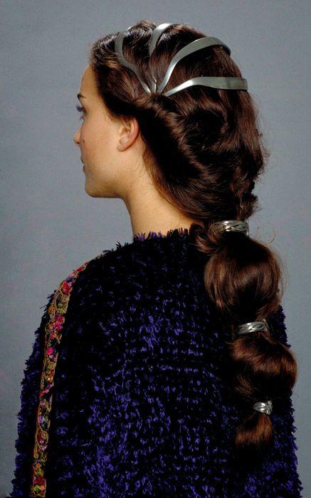 One of Padme's many hair stylesNatalie Portman, Hairstyles, Episode Iii, Padme Hair, Star Wars, Costumes Design, Stars Wars, Padme Amidala Hair, Historical Hair