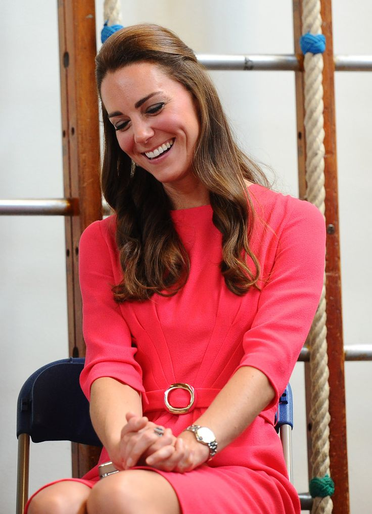 Catherine, Duchess of Cambridge visits an M-PACT Plus Counselling programme at Blessed Sacrament School on July 1, 2014