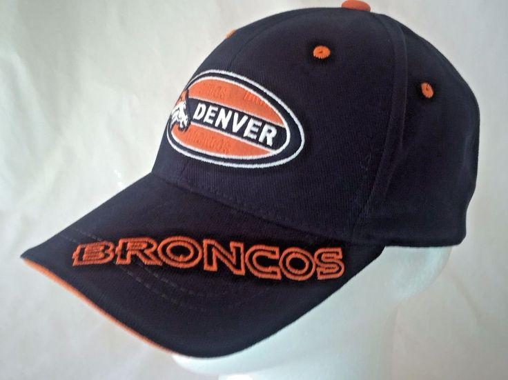 Denver Broncos Football Hat Baseball Cap Embroidered NFL One Size Adult Adjusts #NFL #DenverBroncos