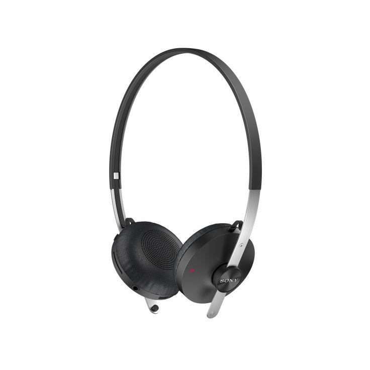 Funcionalidades do fone de ouvido estéreo Bluetooth SBH60 que permitem que você desfrute de sua música e faça e atenda chamadas.